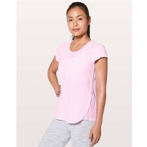 Lululemon | Just Pleat It Short Sleeve Pearl Pink